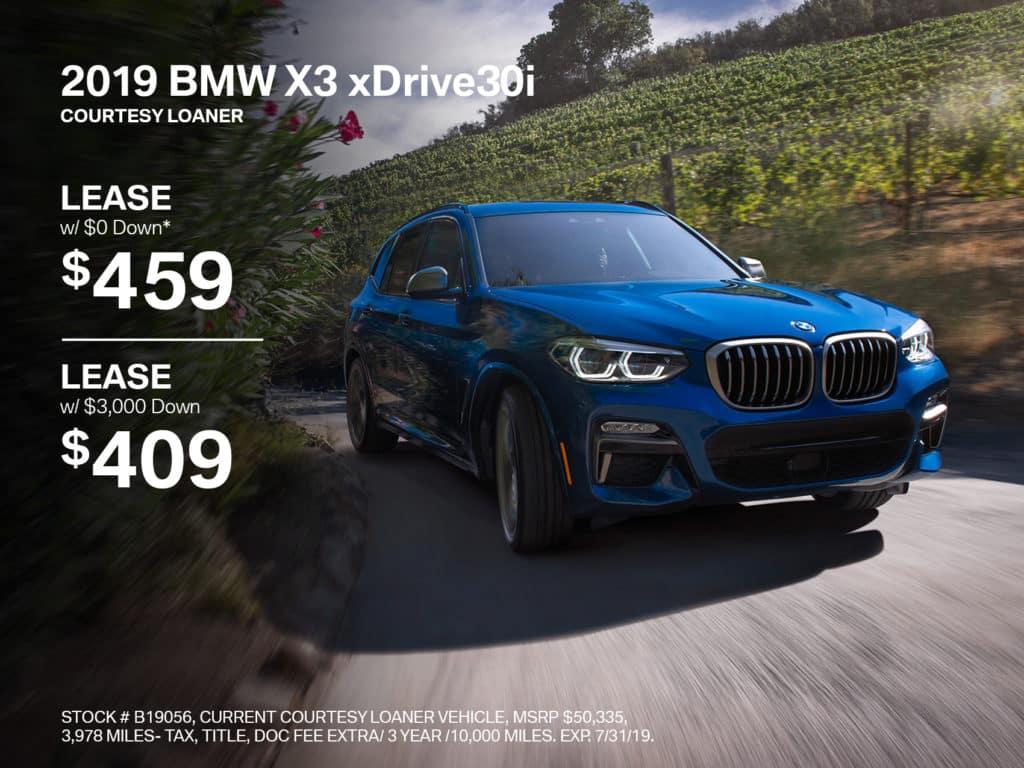 Pre-Owned 2019 BMW X3 xDrive30i AWD