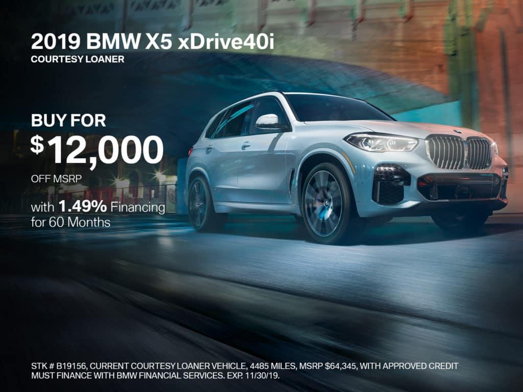 2019 BMW X5 xDrive40i With Navigation & AWD