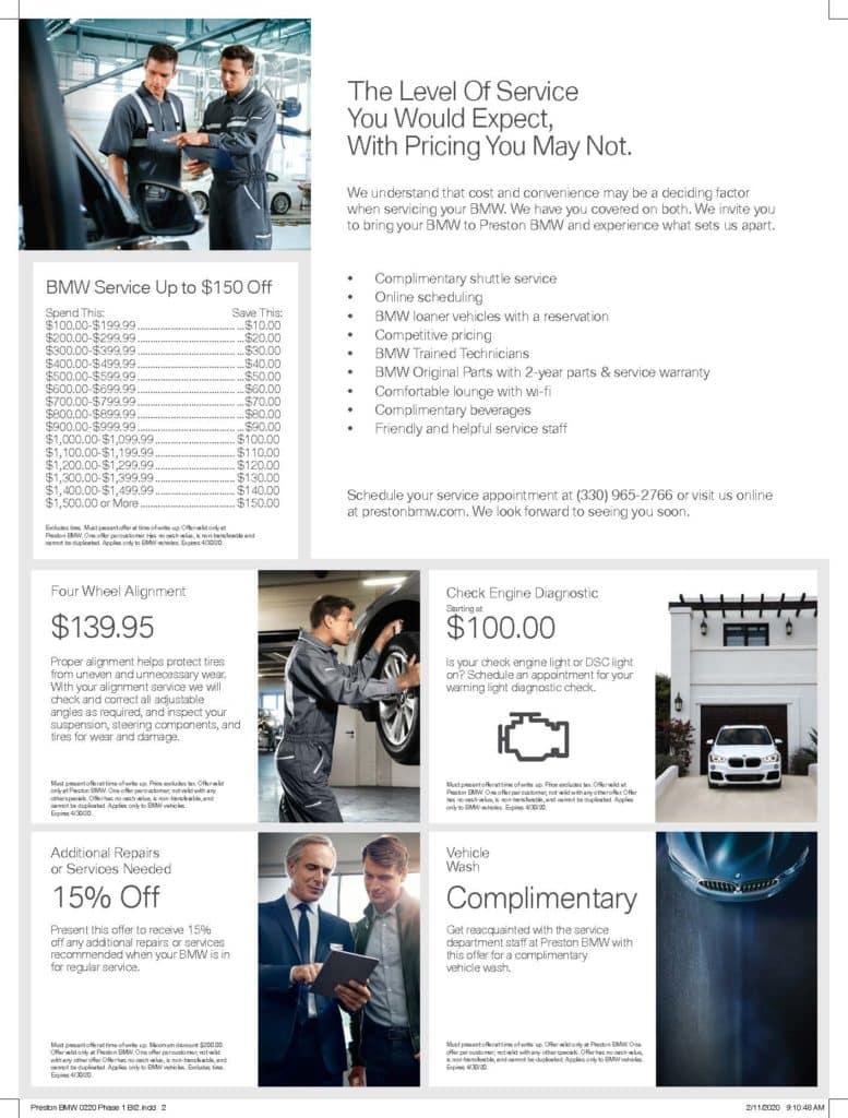 BMW Service Offer