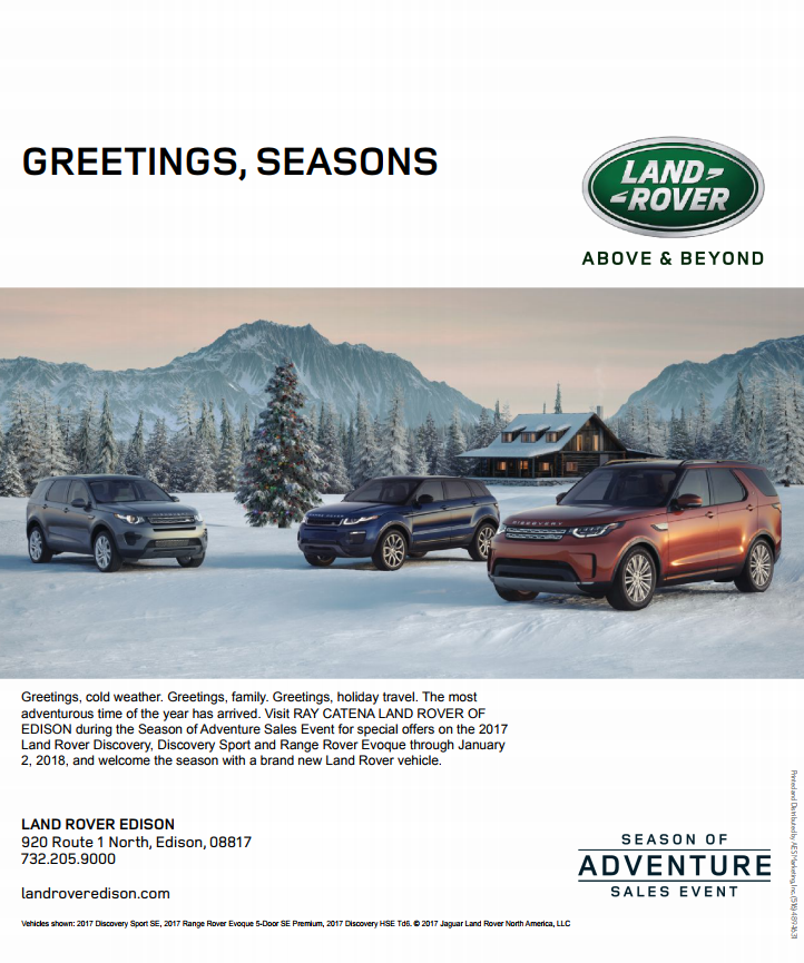 Land rover seasons greetings ray catena auto group for Mercedes benz larchmont service
