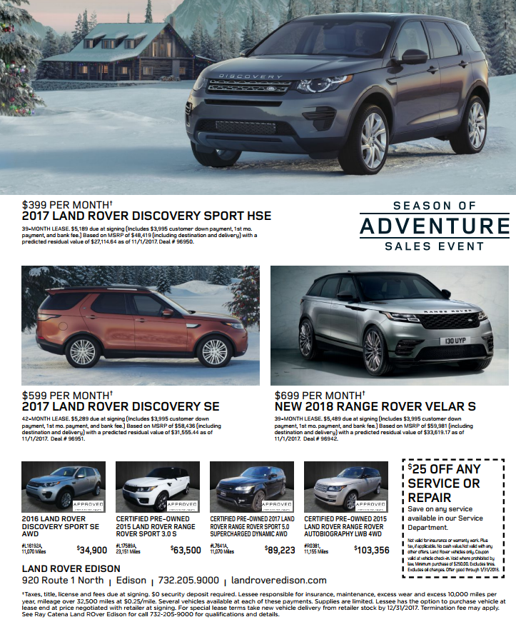 Land Rover Sales Event