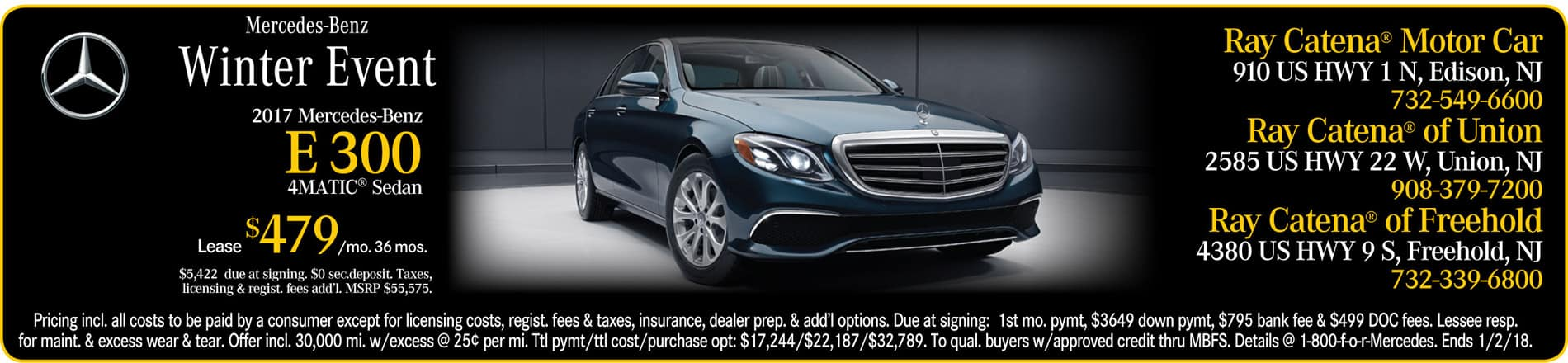 Welcome to ray catena 39 s central new jersey dealerships for Ray catena mercedes benz edison nj