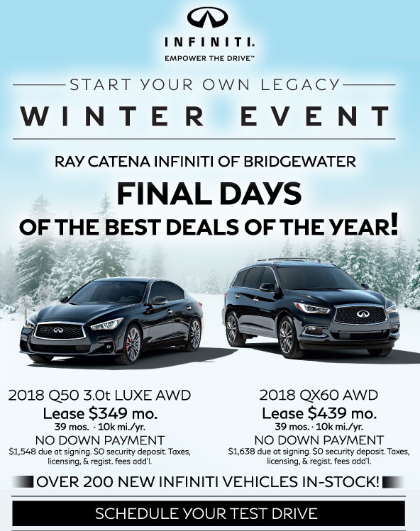Infiniti winter event ray catena auto group for Ray catena mercedes benz route 22
