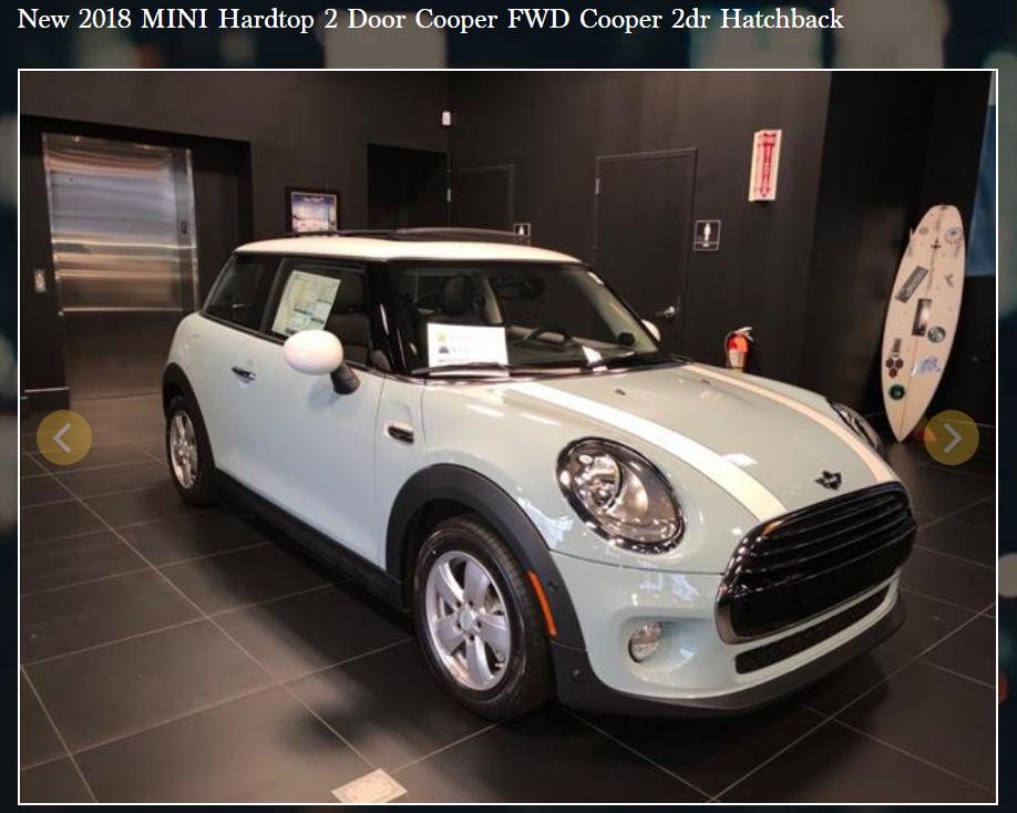 2018 mini hardtop 2door cooper ray catena auto group. Black Bedroom Furniture Sets. Home Design Ideas