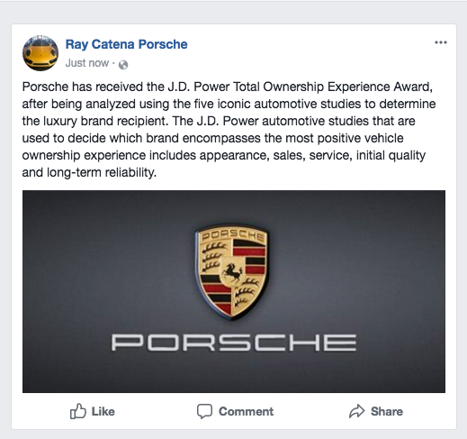Porsche Receives The J.D. Power Total Ownership Experience