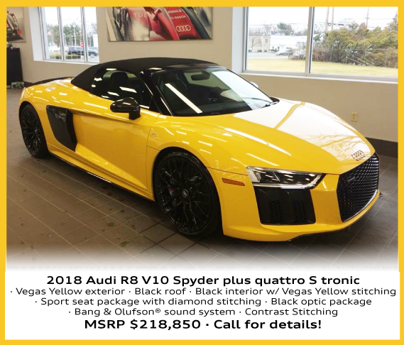 The 2018 Audi R8 V10 Spyder At Audi Toms River Ray Catena Auto Group