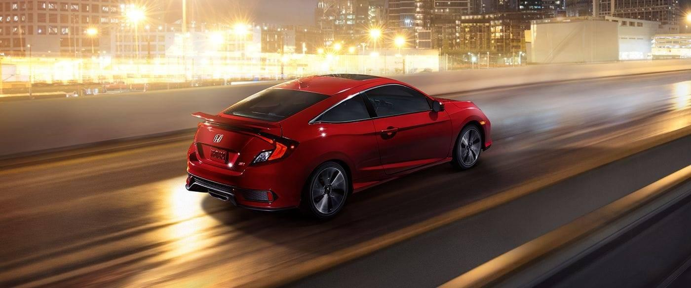 2017 Honda Civic Si Coupe Rear Side Red Exterior