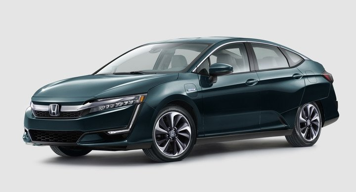 2018 Honda Clarity Plug In Hybrid Green Side Front Exterior