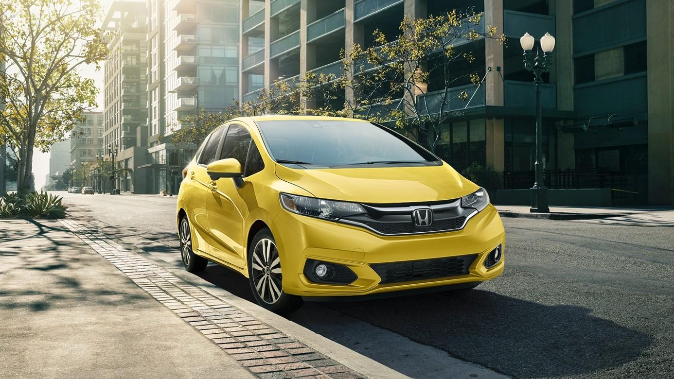 2018 Honda Fit Yellow Front Exterior
