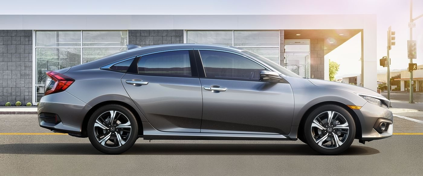 2017 Honda Civic Sedan LX Silver Exterior Side Profile