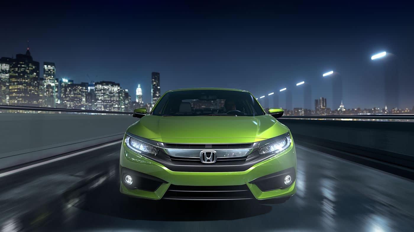 2017 Honda Civic Exterior Front Green