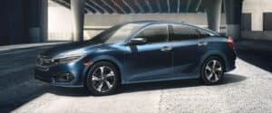 2018 Honda Civic Sedan Blue Side Exterior