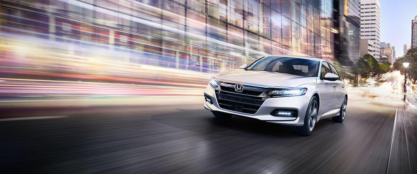 2018 Honda Accord White Front Exterior