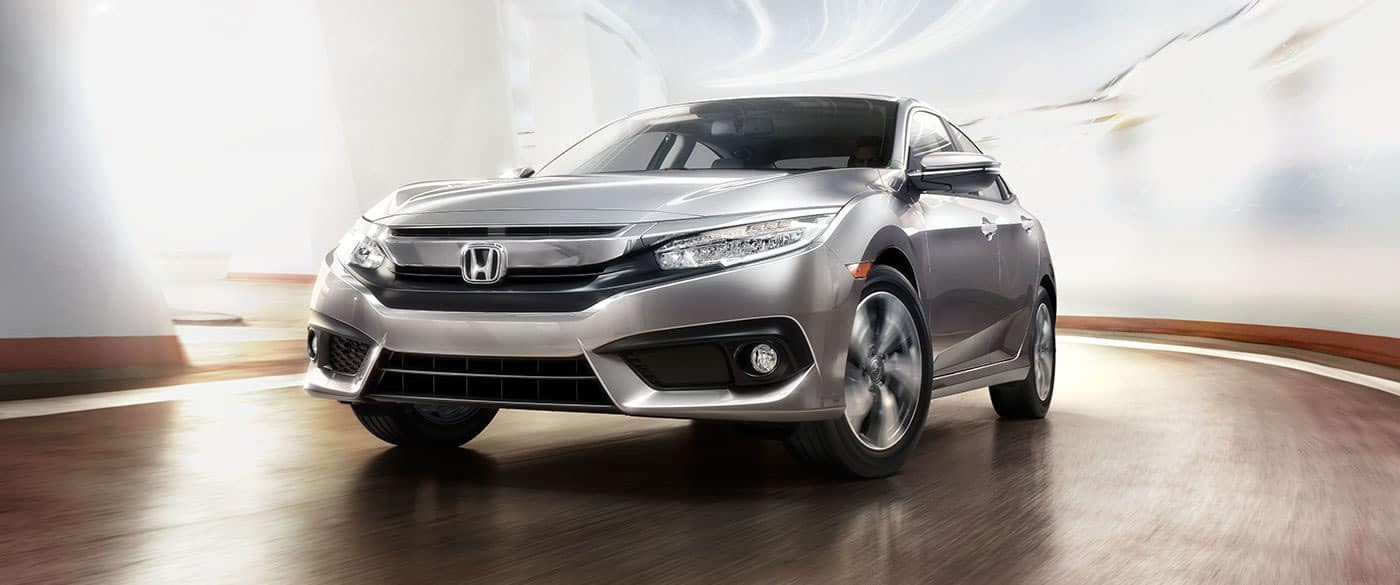 2018 Honda Civic Silver Exterior Front View