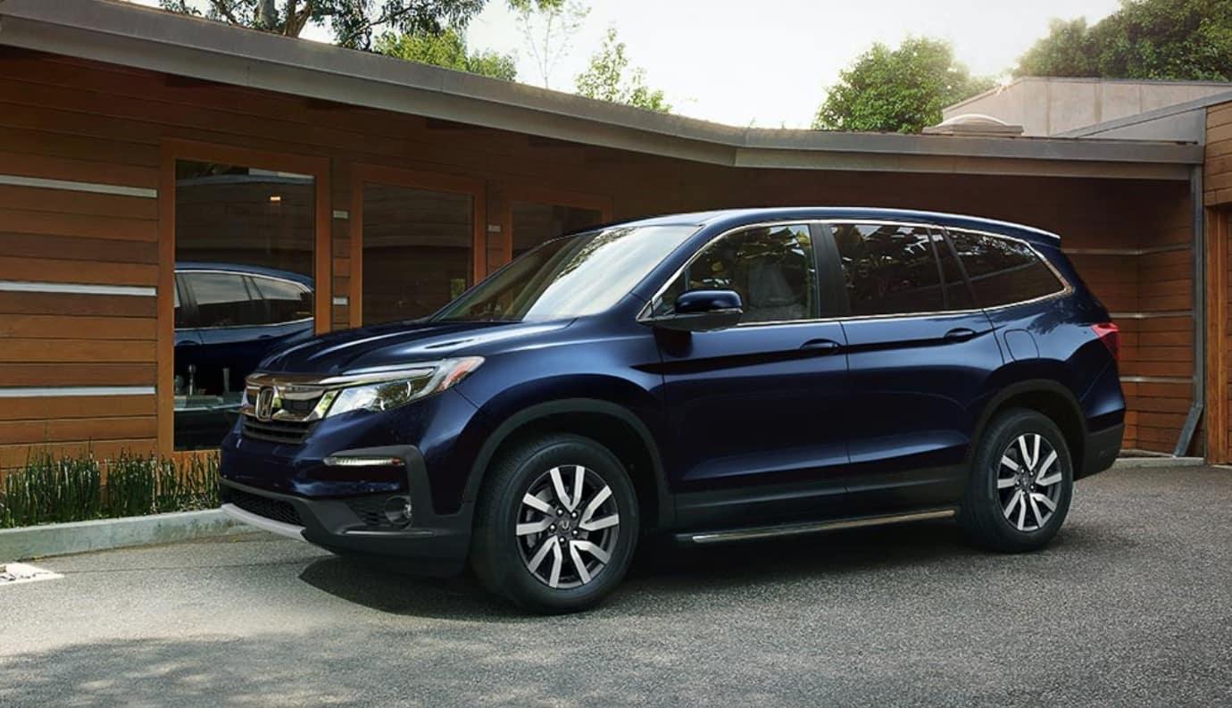 2019 Honda Pilot Front Blue Exterior