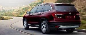 2019 Honda Pilot Red Driving Exterior