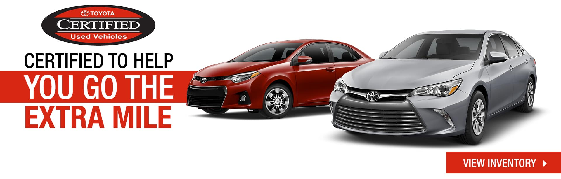 Certified To Help You Go The Extra Mile | Toyota Certified Used Vehicles