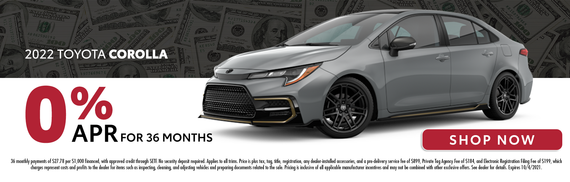 2022 Toyota Corolla | 0% APR For 36 Months