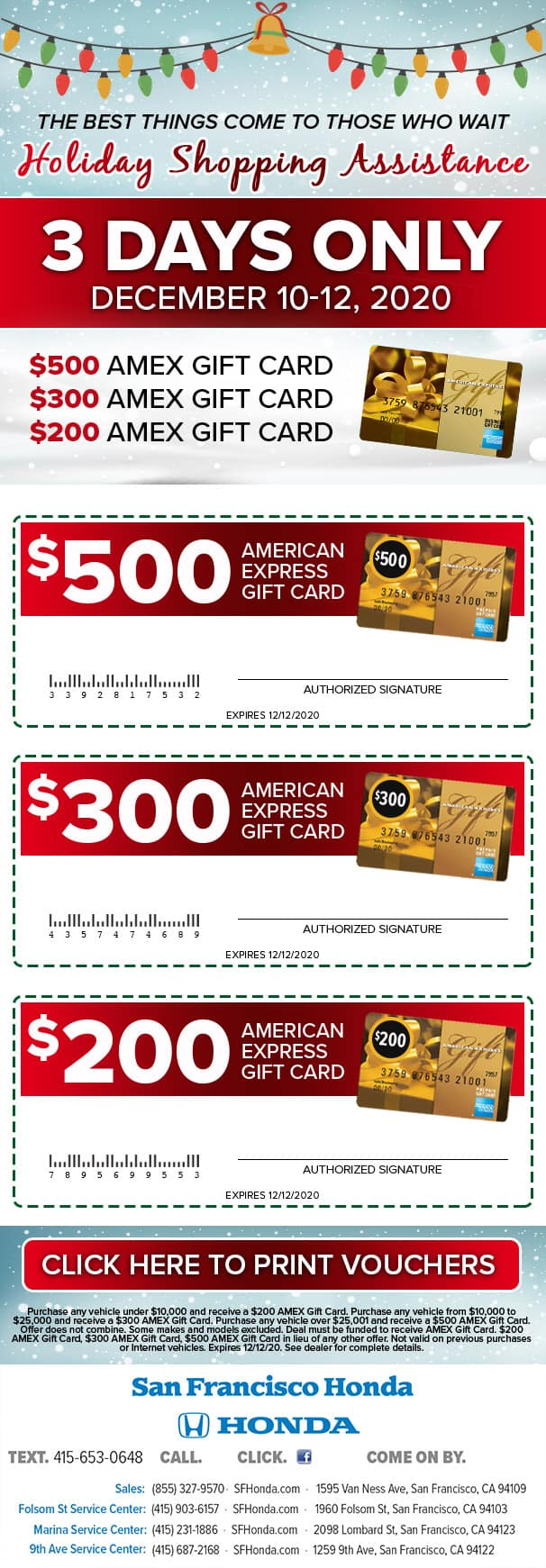 Holiday Shopping Assistance - 3 Days Only