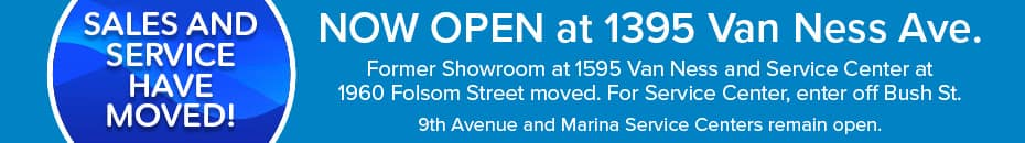 We've moved to 1395 Van Ness Ave