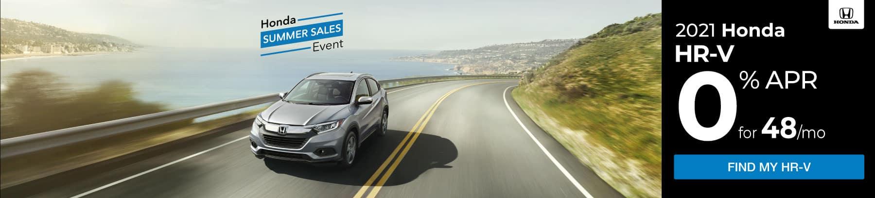 Honda Summer Sales Event 2021 HR-V 0% APR