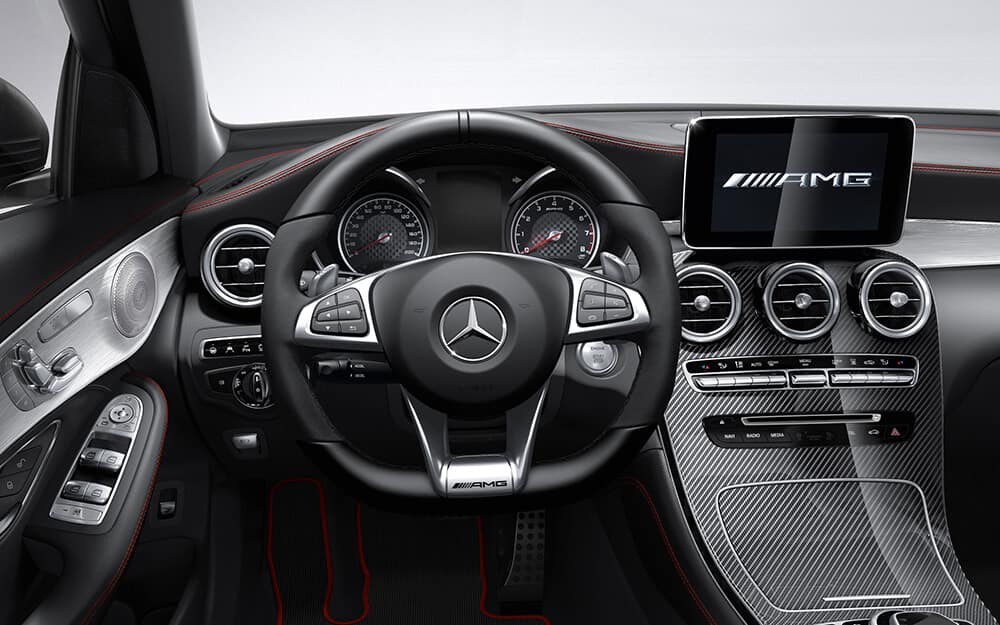 Steering wheel of the 2018 Mercedes-Benz GLC
