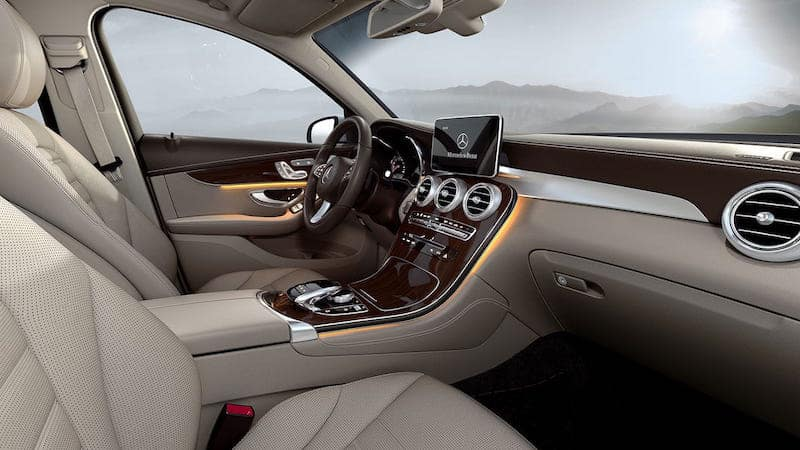 tan GLC interior and dashboard