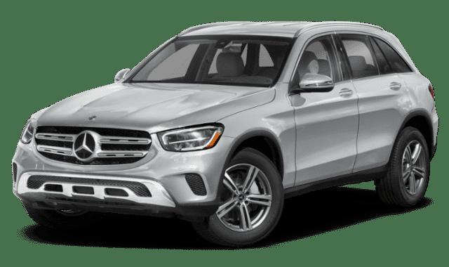 Silver-white 2020 Mercedes-Benz GLC