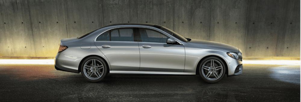 Silver Mercedes-Benz E-Class