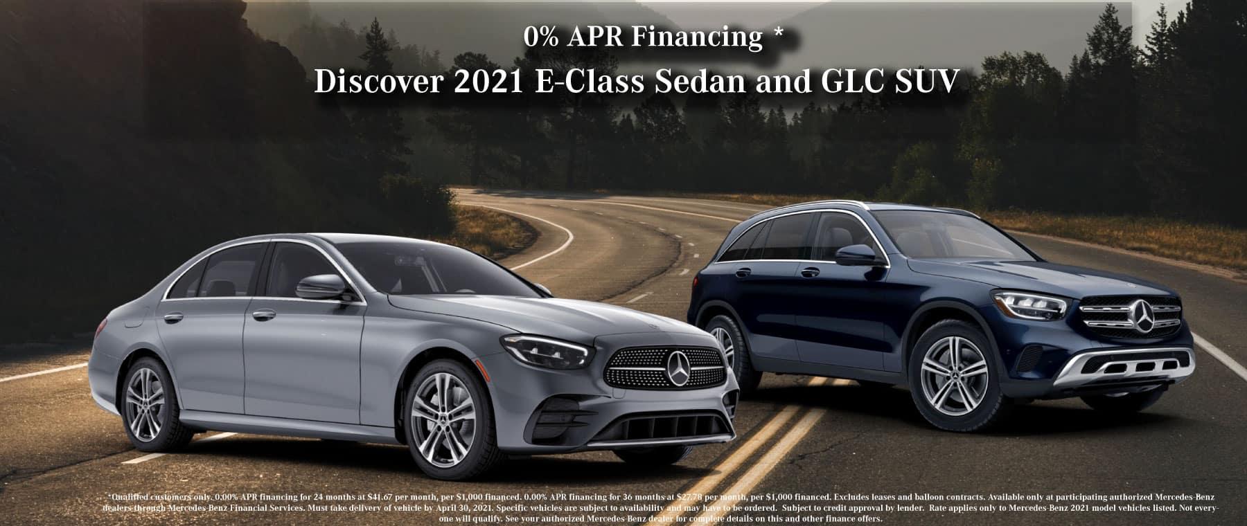 Mercedes-Benz 2021 E class sedan special, 2021 glc special