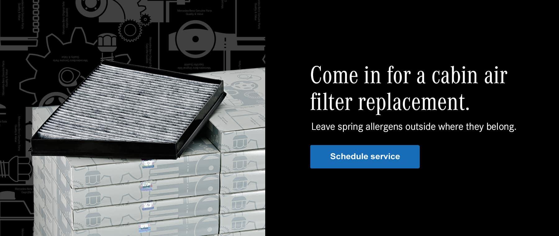 Mercedes-Benz air filter replacement services