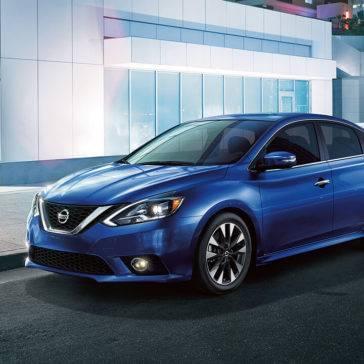 2017 Nissan Sentra blue exterior
