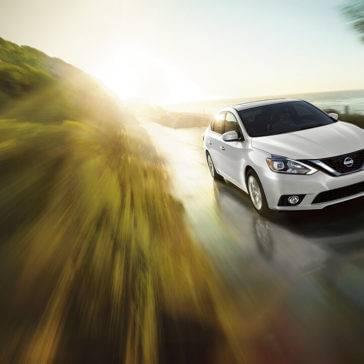 2017 Nissan Sentra white exterior model