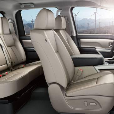 2017 Nissan Titan interior seating