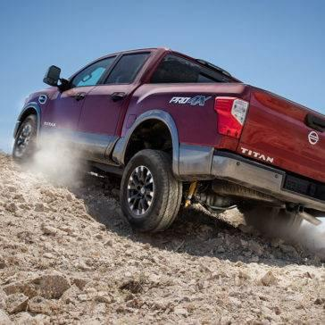 2017 Nissan Titan off roading