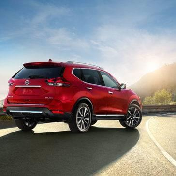 2017 Nissan Rogue red exterior rear view