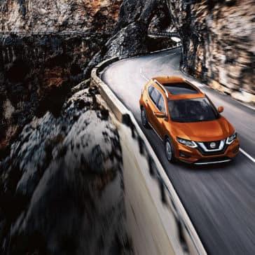 2018 Nissan Rogue orange exterior