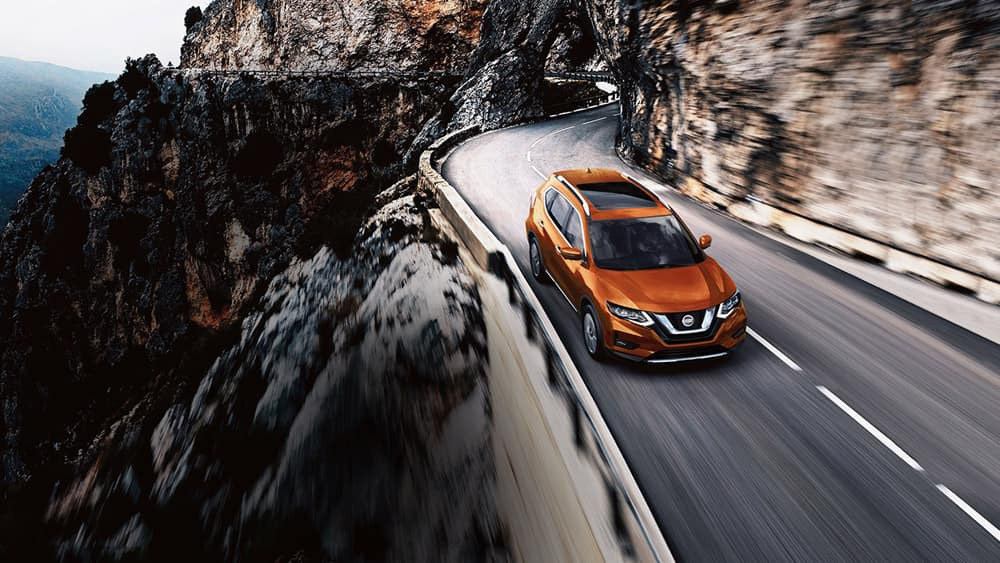 2018 Nissan Rogue orange exterior