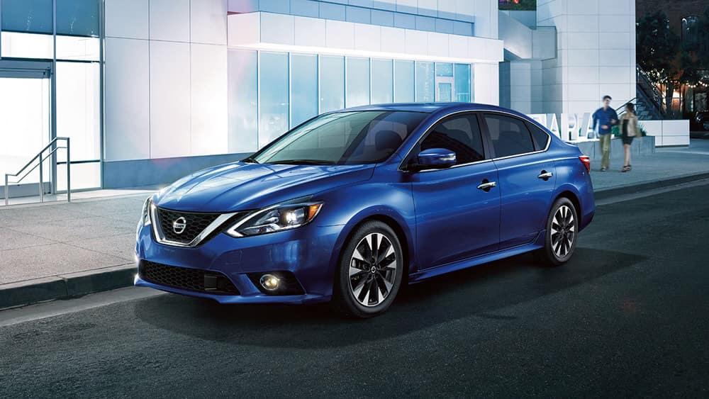 2018 Nissan Sentra blue exterior