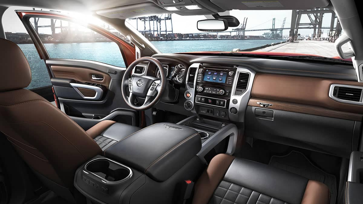 2018 Nissan Titan front interior
