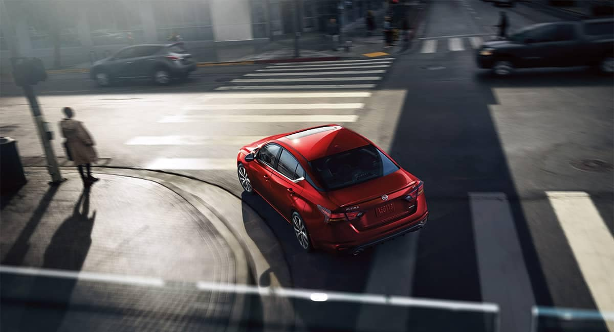 2019 Nissan Altima aerial view