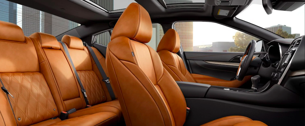 Nissan Maxima interior with tan leather seating