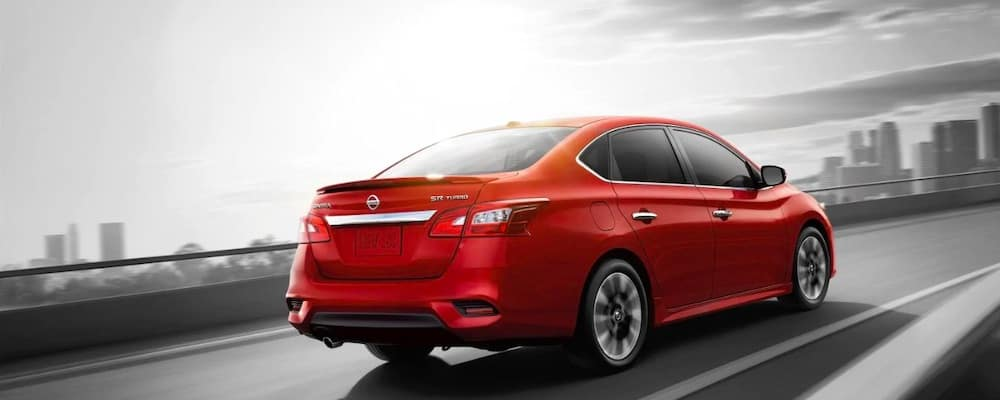 2019 Nissan Sentra SE Turbo in red