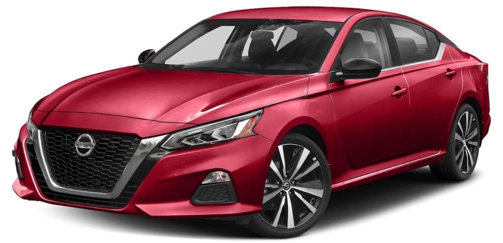 2019 Nissan Altima with white background