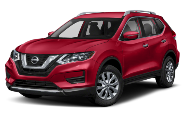 2019 Nissan Rogue in red