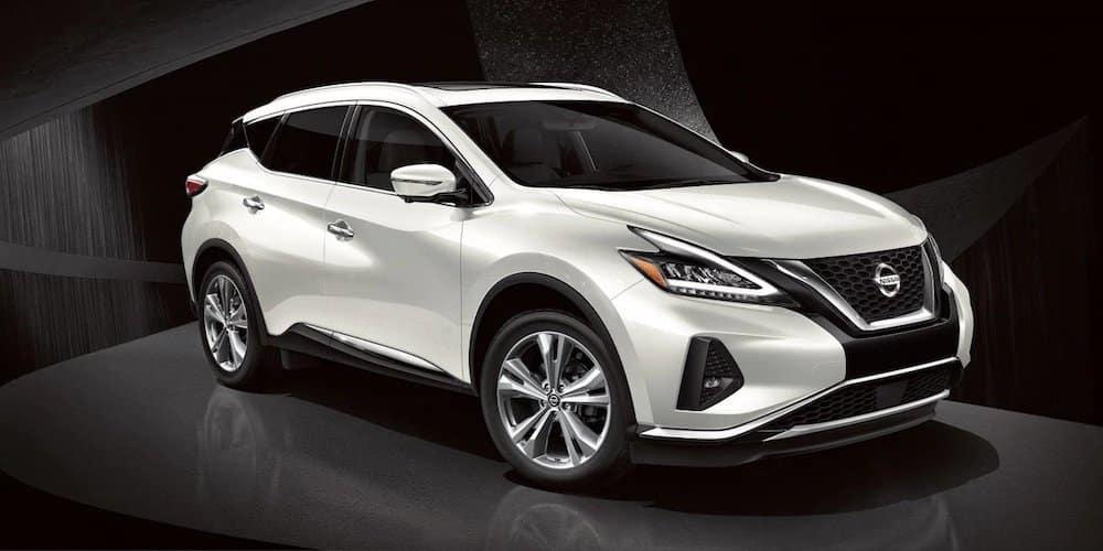 White 2019 Nissan Murano Profile