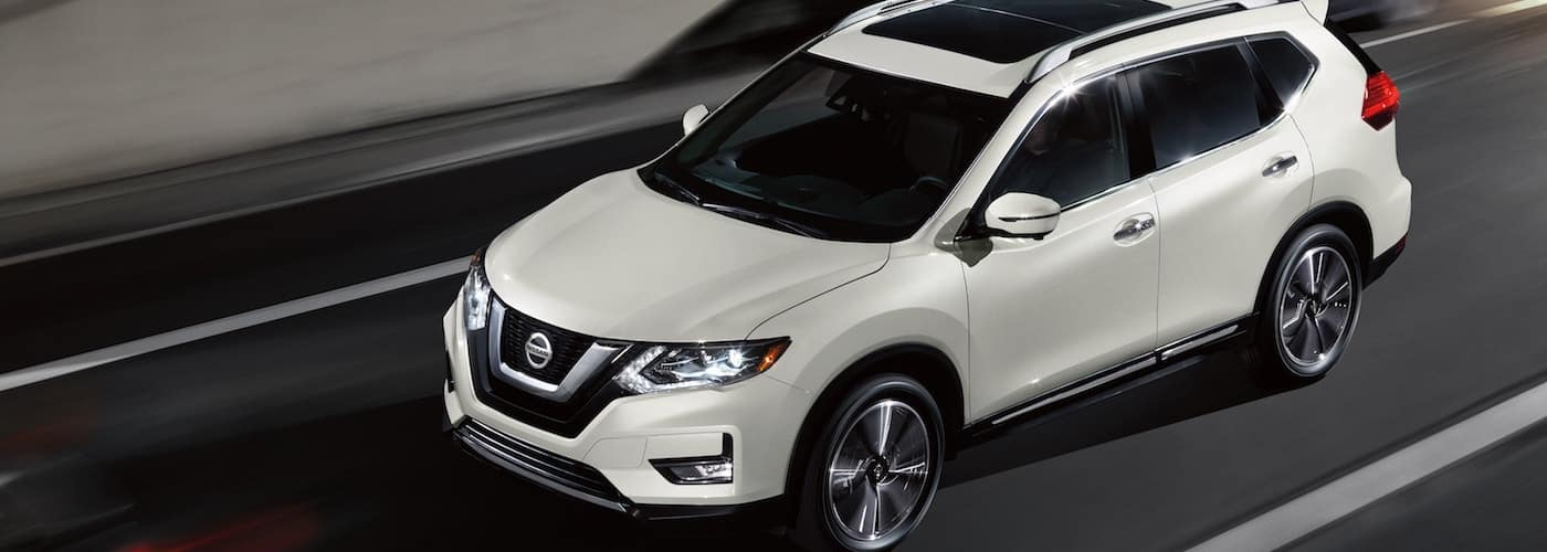 White 2020 Nissan Rogue on Highway