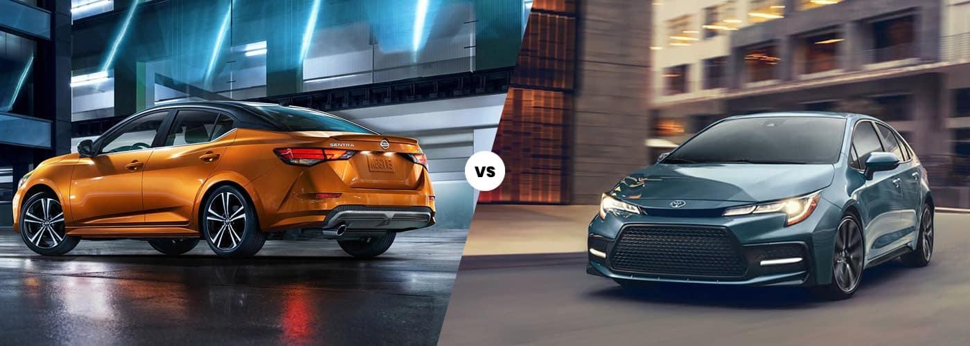 2020 Nissan Sentra Vs. 2020 Toyota Corolla Comparison