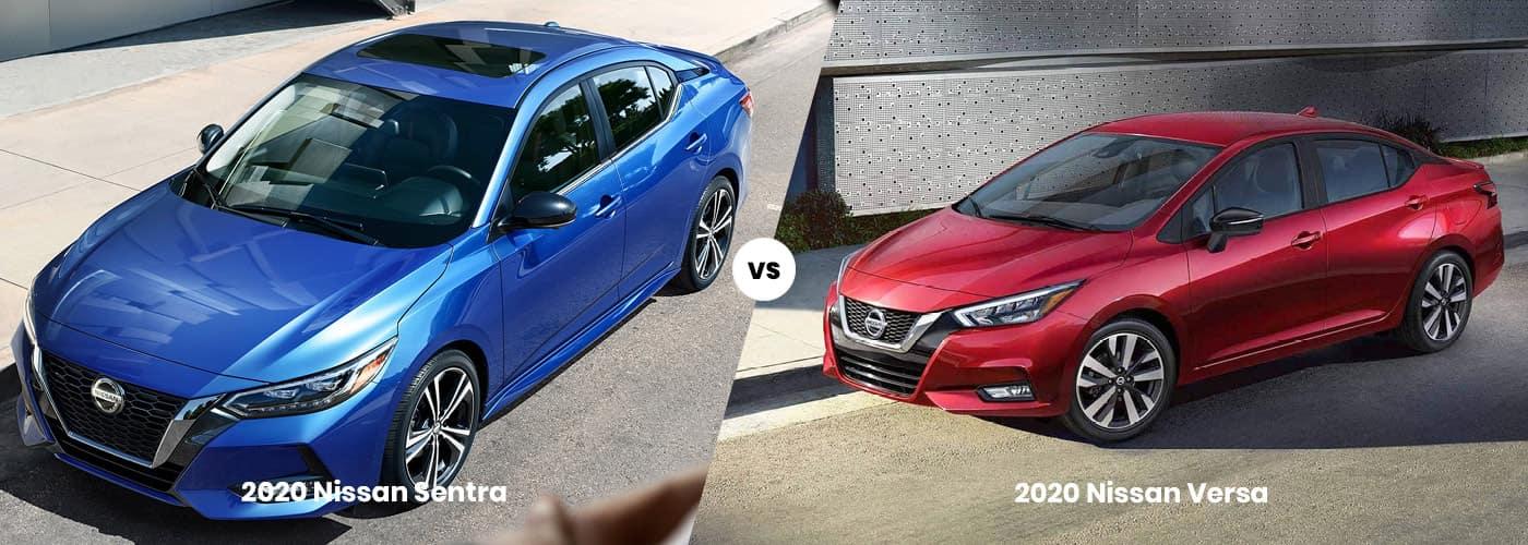 2020 Nissan Sentra Vs 2020 Nissan Versa comparison