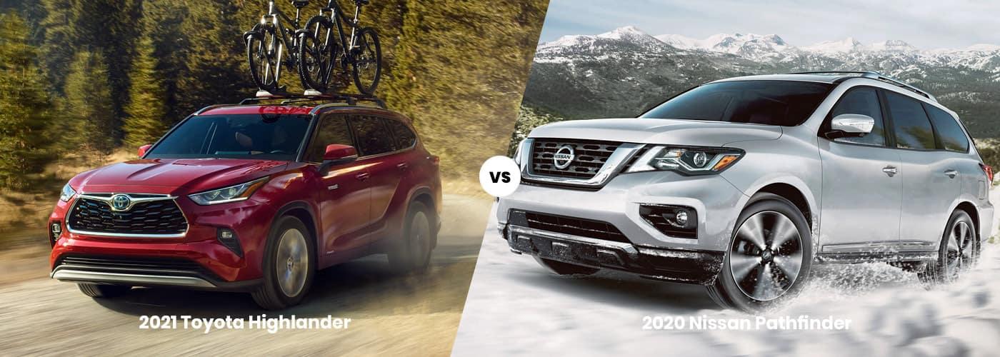2020 Nissan Pathfinder vs 2021 Toyota Highlander comparison